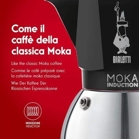 Bialetti Moka Pot Induction Siyah 6 Cup
