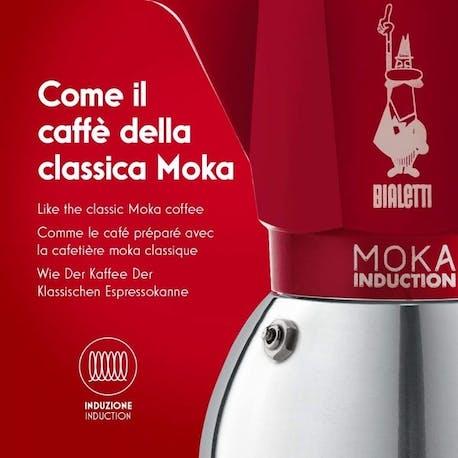 Bialetti Moka Pot Induction Kırmızı 2 Cup