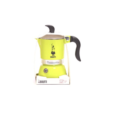 Bialetti Moka Pot Fiammetta Electric Lime 1 Cup