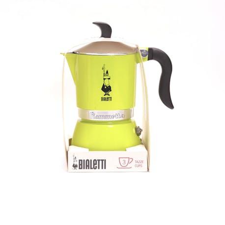 Bialetti Moka Pot Fiammetta Electric Lime 3 Cup
