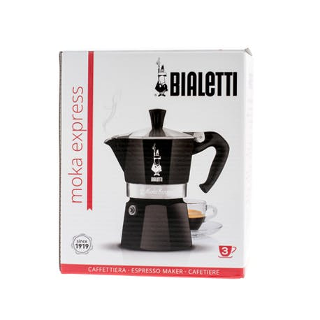 Bialetti Moka Pot Express Siyah 3 Cup