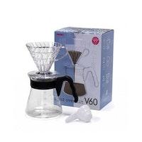 Hario V60 02 Plastik Set Şeffaf