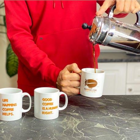 KahhveCom Porselen Kahve Kupa
