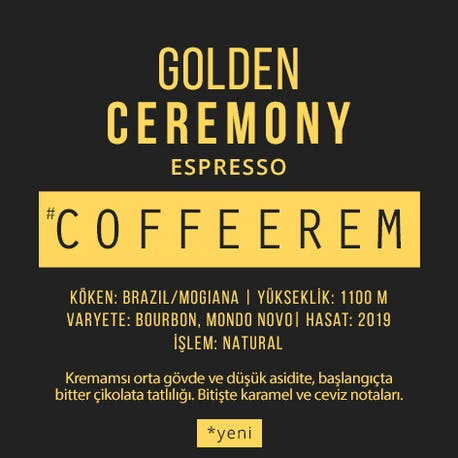 Coffeerem Golden Ceremony Espresso&Filtre 200G